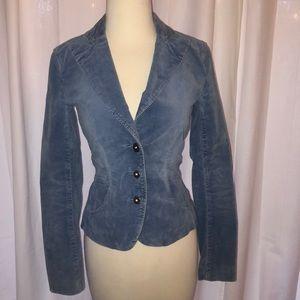 A   X velvet blue blazer